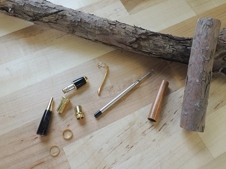 Turned Pen Made From Shrub Wood